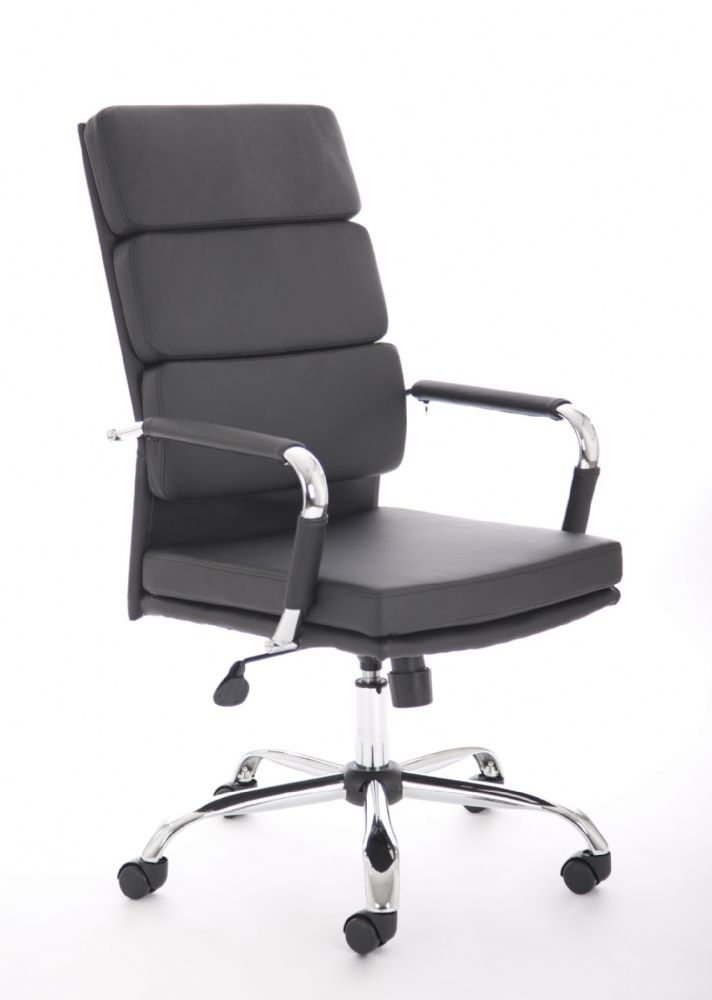 Advocate Executive Italian Design Meeting Chair Padded Back Support Task Fixed Arms Various Leathers